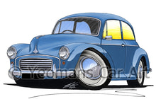 Load image into Gallery viewer, Morris Minor (2dr) - Caricature Car Art Print
