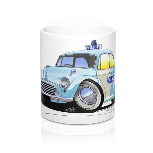 Morris Minor Police Car - Caricature Car Art Coffee Mug