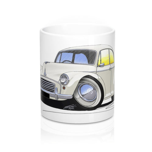Morris Minor (2dr) - Caricature Car Art Coffee Mug