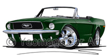 Load image into Gallery viewer, Ford Mustang (1968) Convertible - Caricature Car Art Print
