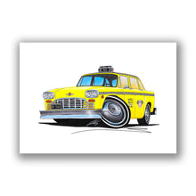 Load image into Gallery viewer, New York Checker Cab - Caricature Car Art Print