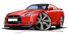 Load image into Gallery viewer, Nissan GT-R - Caricature Car Art Coffee Mug