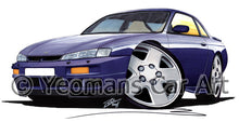 Load image into Gallery viewer, Nissan 200SX S14 - Caricature Car Art Print