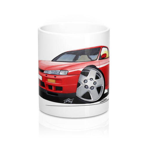 Nissan 200SX S14 - Caricature Car Art Coffee Mug