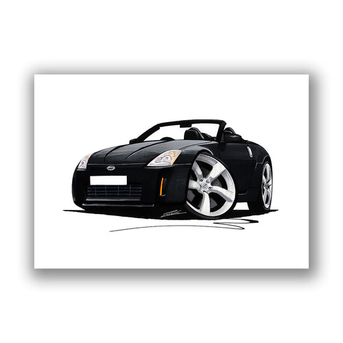 Nissan 350z Roadster - Caricature Car Art Print