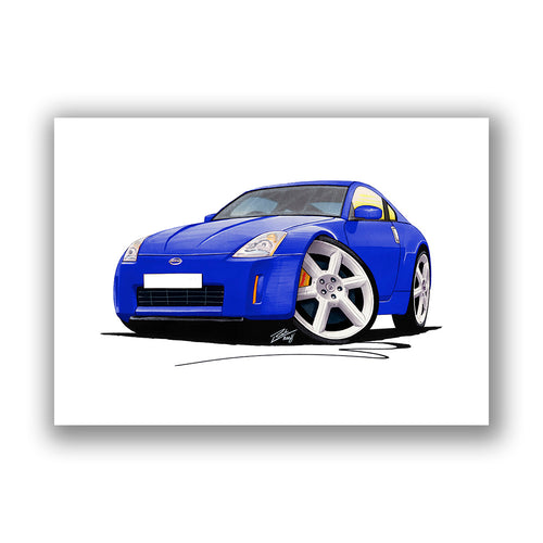 Nissan 350z - Caricature Car Art Print