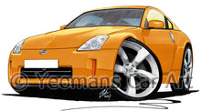 Load image into Gallery viewer, Nissan 350z (Facelift) - Caricature Car Art Print