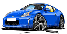 Load image into Gallery viewer, Nissan 370z - Caricature Car Art Print