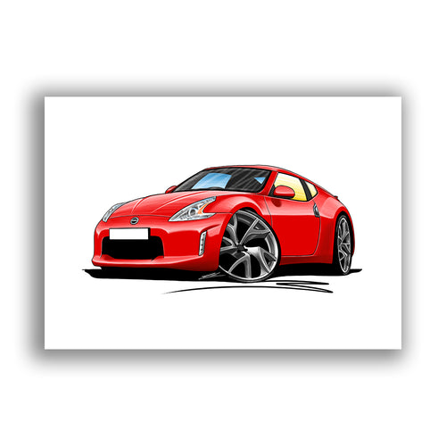 Nissan 370z - Caricature Car Art Print