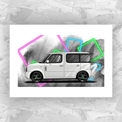 Nissan Cube (Yeomans Edition) - Roadside Icons Art Print