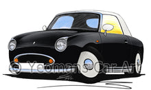 Load image into Gallery viewer, Nissan Figaro - Caricature Car Art Print
