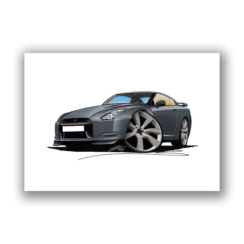 Nissan GT-R - Caricature Car Art Print