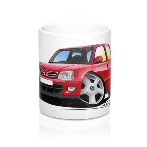 Nissan Micra (Mk2/K11)(Facelift) - Caricature Car Art Coffee Mug