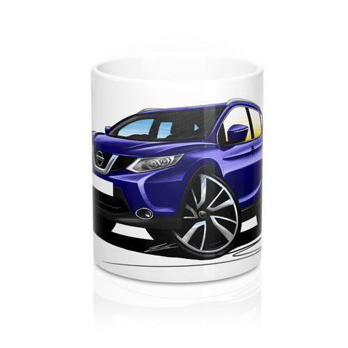 Nissan Qashqai (Mk2) - Caricature Car Art Coffee Mug