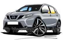 Load image into Gallery viewer, Nissan Qashqai (Mk2) - Caricature Car Art Print