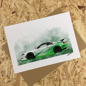 Nissan Silvia S15 Street Racer (Yeomans Edition) - Roadside Icons Art Print