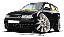 Load image into Gallery viewer, Skoda Octavia 1 vRS Estate - Caricature Car Art Print