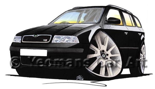 Skoda Octavia 1 vRS Estate - Caricature Car Art Coffee Mug