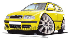 Load image into Gallery viewer, Skoda Octavia 1 vRS Estate - Caricature Car Art Coffee Mug