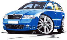 Load image into Gallery viewer, Skoda Octavia 2 vRS Estate - Caricature Car Art Print