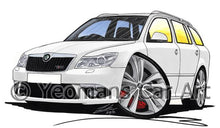 Load image into Gallery viewer, Skoda Octavia 2 (Facelift) vRS Estate - Caricature Car Art Coffee Mug