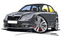 Load image into Gallery viewer, Skoda Octavia 2 (Facelift) vRS - Caricature Car Art Coffee Mug