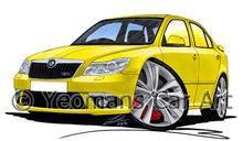 Load image into Gallery viewer, Skoda Octavia 2 (Facelift) vRS - Caricature Car Art Print