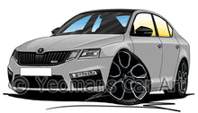 Load image into Gallery viewer, Skoda Octavia 3 (Facelift) vRS 245 - Caricature Car Art Print