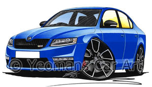 Skoda Octavia 3 vRS - Caricature Car Art Coffee Mug