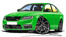 Load image into Gallery viewer, Skoda Octavia 3 vRS - Caricature Car Art Coffee Mug