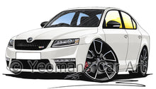 Load image into Gallery viewer, Skoda Octavia 3 vRS - Caricature Car Art Print