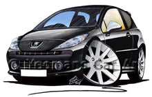 Load image into Gallery viewer, Peugeot 207 GTi - Caricature Car Art Print