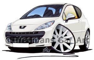 Peugeot 207 GTi - Caricature Car Art Print