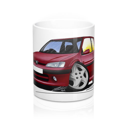 Peugeot 106 GTi - Caricature Car Art Coffee Mug
