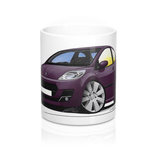 Peugeot 107 (Facelift) - Caricature Car Art Coffee Mug
