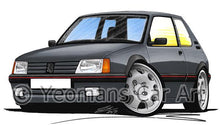 Load image into Gallery viewer, Peugeot 205 GTi - Caricature Car Art Coffee Mug