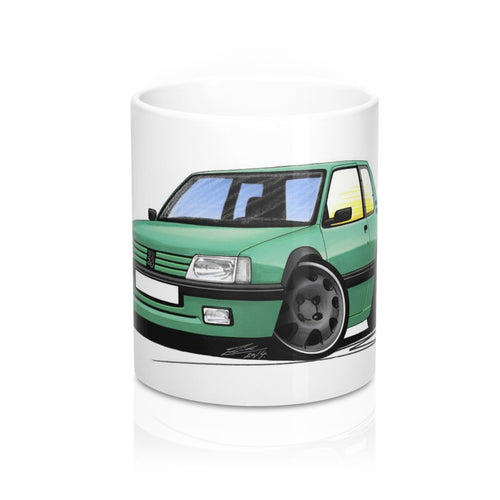 Peugeot 205 GTi Griffe Edition - Caricature Car Art Coffee Mug