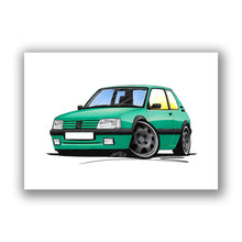 Load image into Gallery viewer, Peugeot 205 GTi Griffe Edition - Caricature Car Art Print