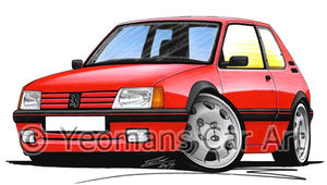 Peugeot 205 GTi - Caricature Car Art Coffee Mug
