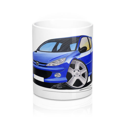 Peugeot 206 GTi - Caricature Car Art Coffee Mug