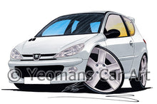 Load image into Gallery viewer, Peugeot 206 GTi - Caricature Car Art Print