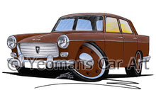 Load image into Gallery viewer, Peugeot 404 - Caricature Car Art Print