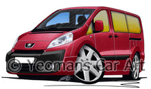 Load image into Gallery viewer, Peugeot Expert - Caricature Car Art Print