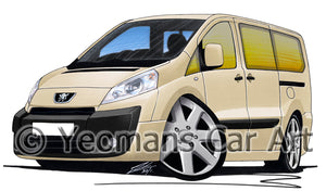 Peugeot Expert - Caricature Car Art Print