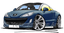 Load image into Gallery viewer, Peugeot RCZ - Caricature Car Art Print