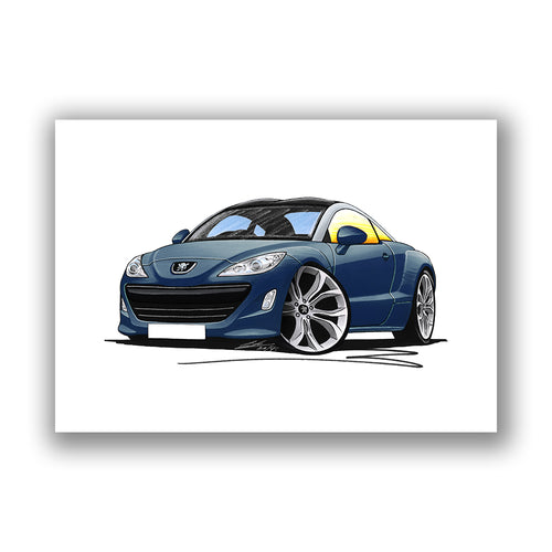 Peugeot RCZ - Caricature Car Art Print