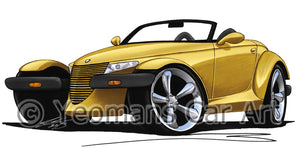 Plymouth Prowler - Caricature Car Art Print