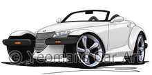 Load image into Gallery viewer, Plymouth Prowler - Caricature Car Art Print