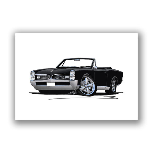 Pontiac GTO (1967) Convertible - Caricature Car Art Print