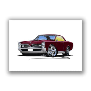 Pontiac GTO (1967) - Caricature Car Art Print